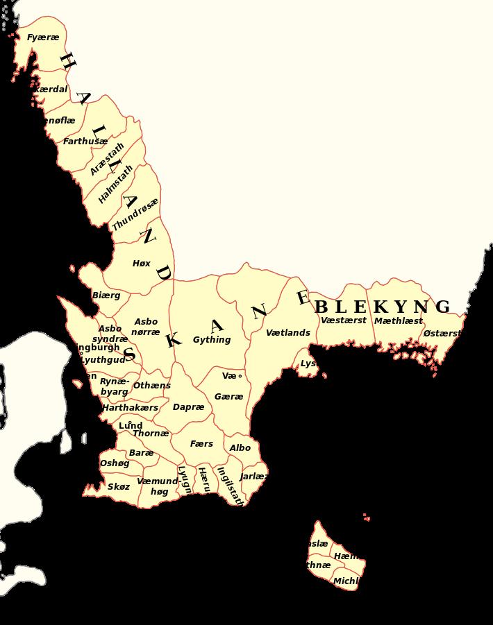 Härader i Skåneland på Medeltiden